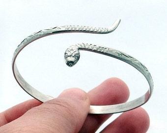 Snake Bracelet, Silver Snake Bracelets, Snake Wrap Bracelet, Snake Jewelry, Serpent Bracelet, Bracelet, Silver Bracelets, Snake Bangle