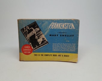 Frankenstein by Mary Shelley - Armed Services Edition 1946 Militry Issue Paperback Book