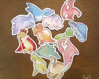 Dinosaur Royalty Sticker Set