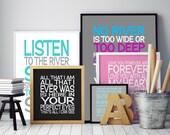 Song lyrics print- Customised song lyrics- music art print-lyrics poster- custom lyrics wall art - music gifts - first dance lyrics