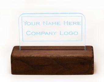 "100mm (~4"") Lit Acrylic Desktop Name Plate Bundle - Style A"