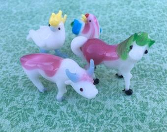 Miniature farm animals, vintage pets, farmhouse figurines, vintage new