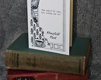 Mansfield Park, Jane Austen, A6 Greetings Card