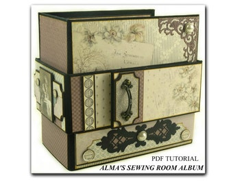 Alma'a Sewing Room Mini Album PDF Tutorial