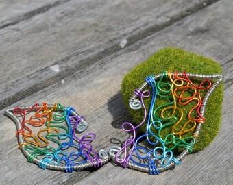 Rainbow Elf Ear Cuffs
