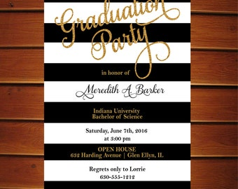 Graduation Trunk Party Invitations Printable Graduation