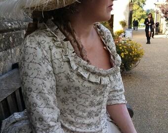 Georgian polonaise and petticoat