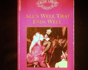 an analysis of scene i in the play alls well that ends well by william shakespeare All's well that ends well has 11,830 all's well that ends well the name of this play has become almost a all's well that ends well, william shakespeare.