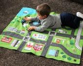 Large Reversible Car Play Mat | Full Size Car Mat | Train Play Mat