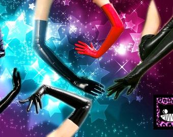 Long Opera gloves latex