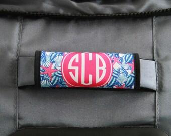 Custom Luggage Handle Wrap Monogram Luggage Wrap Suitcase Finder Personalized Luggage Decor Travel Gifts for Women Custom Monogram Gifts