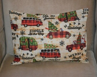 Airstream pillow etsy for Airstream christmas decoration