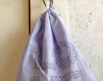 LOVE Refillable Lavender Sachet Bag Handprinted Design