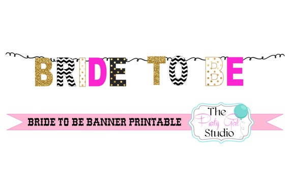 Diy Wedding Word Banners: Bride To Be Banner/ Printable DIY Bunting/ Bridal Shower