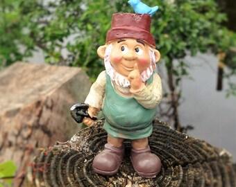 Gnome Figurine Fairy Garden Miniature Terrarium Supply