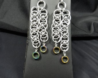 Helm Chainmaille Earrings