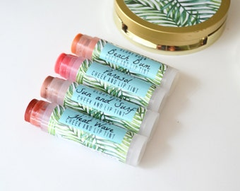 lip and cheek tint, lip balm, tinted lip balm, passport to paradise collection