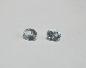 Light Blue Aquamarine oval set .61tcw 5.12x4.07x2.92mm