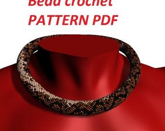 Python Pattern snake pattern snake jewelry Bead crochet pattern snake skin animal patterns beaded pattern jewelry tutorial for make necklace