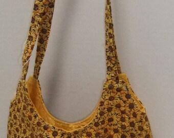 Sunflower tote - medium tote- purse