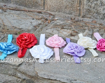 You color headband, baby headbands, baby headband, lace headbands, baby girl headbands, flower headbands, baby shower gift, baby hairbows