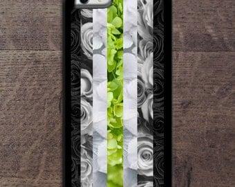 Agender flag in flowers phone case