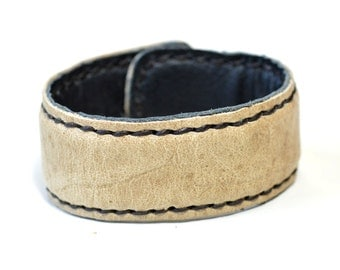 Creamy Leather Cuff for Men and Women