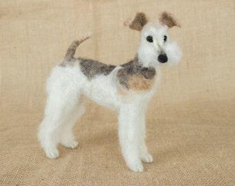 Made to Order Needle Felted Dog: Custom needle felted animal sculpture