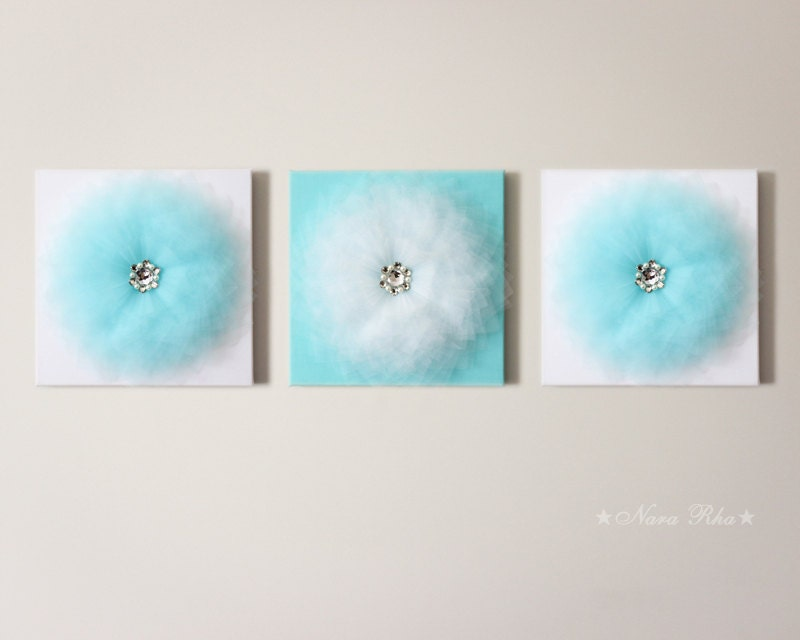 Aqua Wall Decor nursery art nursery decor wall decor baby room decor baby