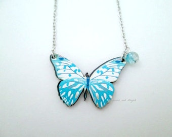 Laser Cut Wood Butterfly Necklace, Butterfly Necklace, Butterfly Pendant, Wood Butterfly, Laser Cut, Cut Wood, Wood Necklace