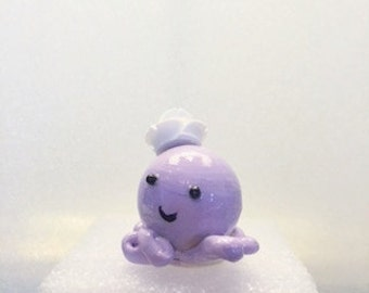 Octo-cutie,006 meduim, purpleflowerhat.Kawaii, cute,