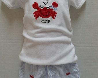 Crabby, But Cute Short Set