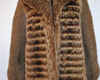 Vintage CLAUDE GILBERT Paris fashion  fur jacket ....(574)