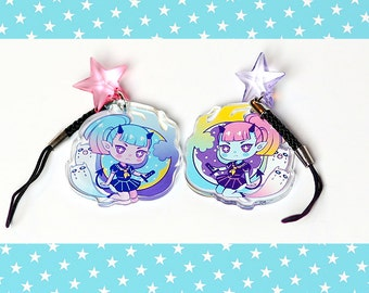 """Dona 1.5"""" Acrylic Charm with Phone Strap (Double-Sided)"""