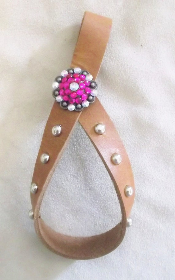 Western Tie Down Keeper With Bling Concho, Tie Down Keeper, Western Tack, Horse Tack
