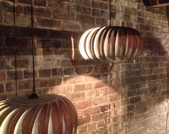 Turbine Hanging Lamp- Naturally Patinaed