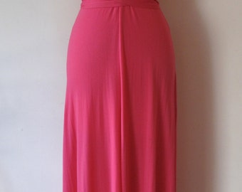 1970s Hot Pink  Maxi Dress