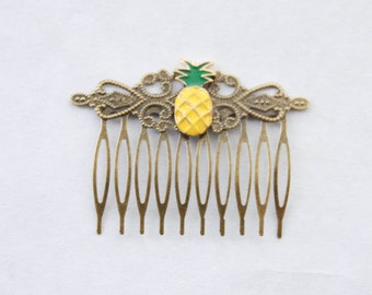 Pineapple Accessories gold pineapple hair clip pineapple hair clip pineapple