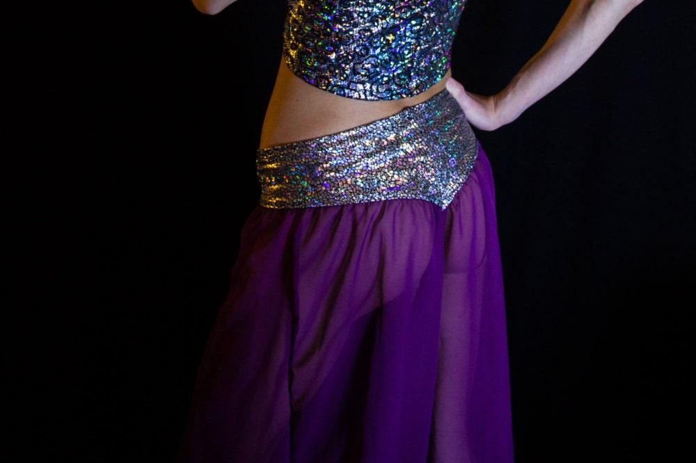 Sheer Purple Genie Pants by HeathensWear on Etsy