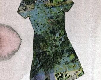 TOMORROW DRESS 1 - Original Collage Paintng - Modern Art - Contemporary Art - Fashion Style