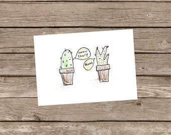 Cactus Print // Cactus Artwork // Funny Artwork