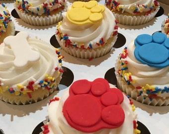 Paw Patrol Cupcake Toppers   Fondant