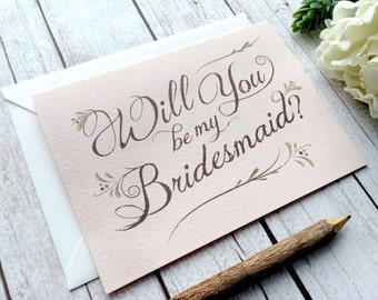 Will You Be My Bridesmaid Card - Will You Be My Bridesmaid? - Bohemian Chic Bridesmaid Invitation