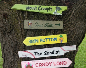 Wooden Directional Sign 5 Pack - Choose Any 5 Signs Available In Our Shop