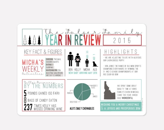 Infographic holiday card