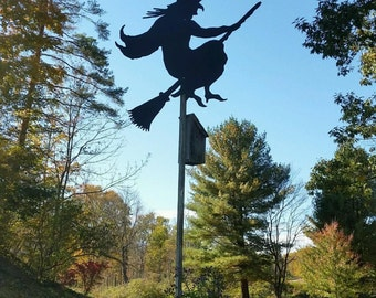 Halloween Silhouettes - Flying witch on Broomstick