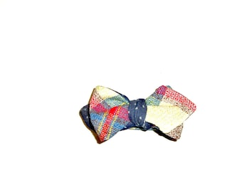 Plaid and Polka Dot Reversible Bow Tie