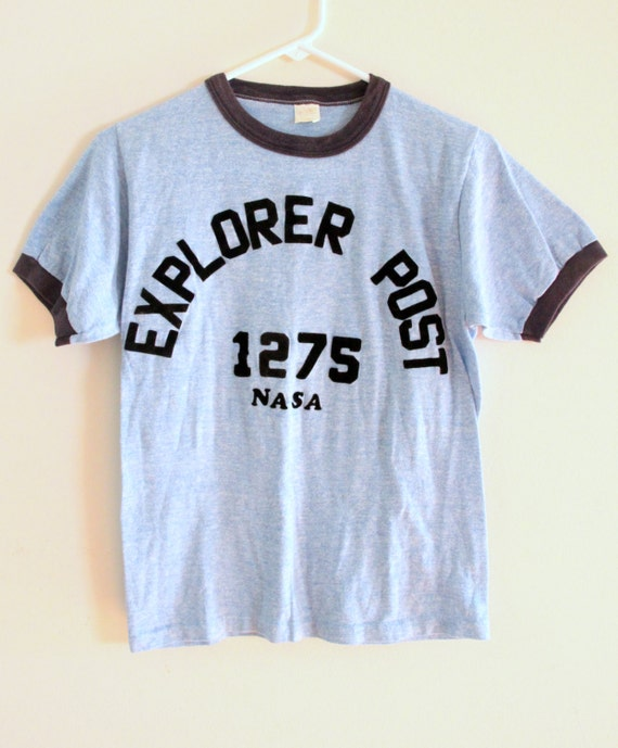 Vintage Explorer Post 1275 NASA T-shirt Ringer T-shirt