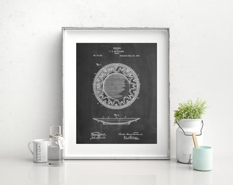 Haviland Dinner Plate Patent Poster, China Plates, Haviland Limognes, Dining Room Wall Decor, PP0150