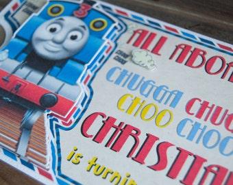 Train Themed Invitations, Choo Choo, Set of 12, Thomas